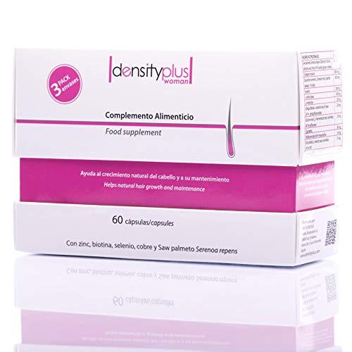 DensityPlus Woman – Pack 3 meses: complejo vitamínico para el cabello en mujeres