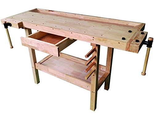 Vigor 4894510 Werkbank aus Holz, Braun