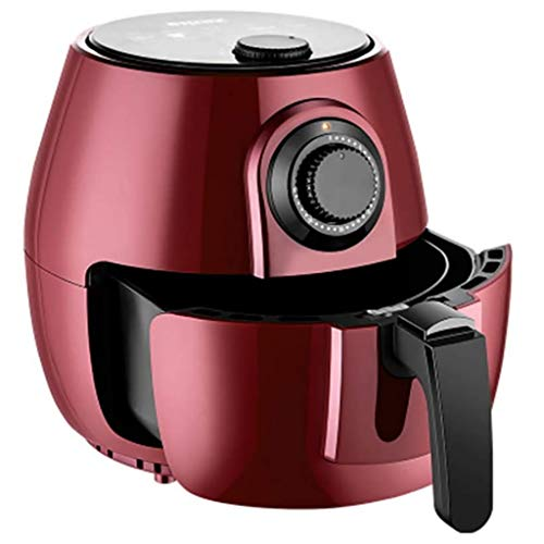 Yzg Air Fryer Hohe Kapazität Rapid Air-Technologie Air Circulation System Elektro-Heißluft Friteuse Ofen Toaster Oil Free Low Fat Einstellbare Temperatur 4.5L-1200W (Color : Red)