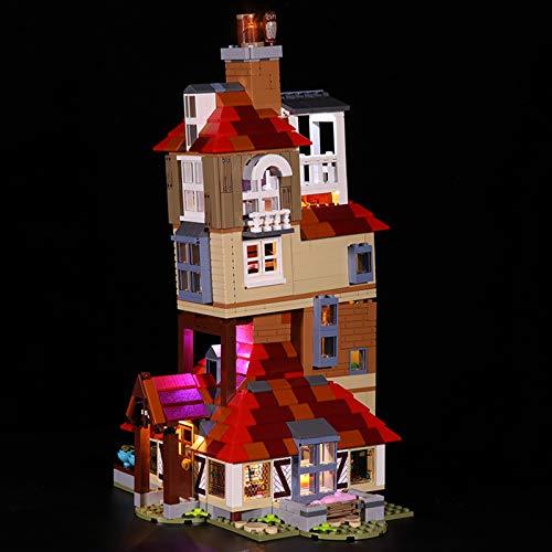 MNVOA Kit De Iluminación Led para Lego Harry Potter Attack on The Burrow, Compatible con Ladrillos De Construcción Lego Modelo 75980 (NO Incluido En El Modelo),Classic Version