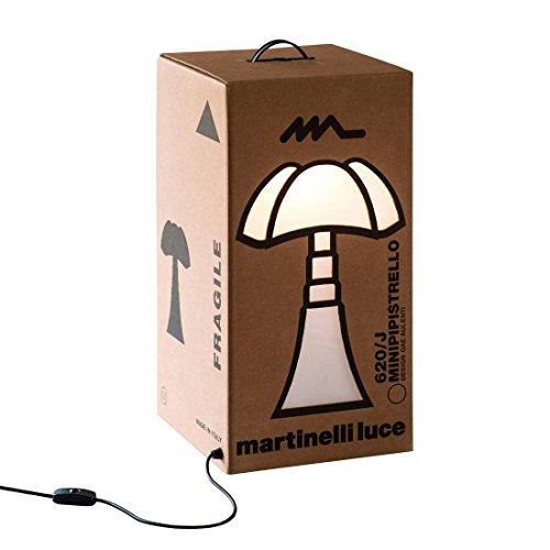 MINI PIPISTRELLO CARTON-Lampe à poser Carton Mini Pipistrello H62cm Marron Martinelli Luce