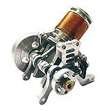 Xshion 6 – 12 V metal V2 motor electromagnético cañón modelo con un solo cilindro, motor funcional, modelo de motor, física, ciencia, experimentación