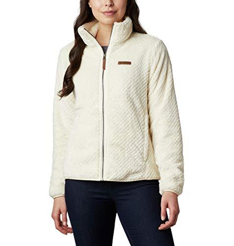 Columbia Women's Fire Side II Sherpa Full Zip, Chalk, Small