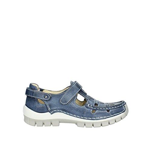 Wolky Comfort Riemchenschuhe Move - 30870 blau Sommer Leder - 41
