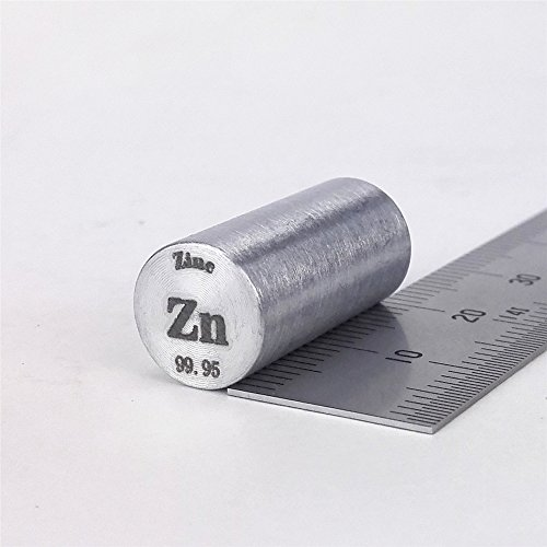 Zink Metall Rod 99,95% 11 Gramm 10diameterx20 mm Länge Element ZN SPECIMEN