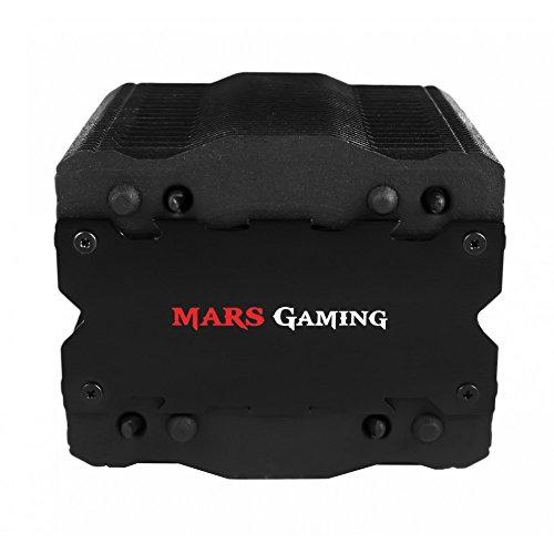 Mars Gaming MCPU2+ - Disipador gaming para ordenador (ventilador 92mm, soporte AM4, tecnología PWM, tratamiento de nanocerámica, ventilador en el interior de...