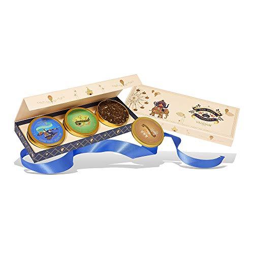 VAHDAM, Sortiertes Tee-Geschenkset - Weihnachtsgeschenke | 3 Tees in in einer Luxus-Geschenkbox | 100% natürliche Zutaten & reichhaltige Gewürz | Festlich Tee Geschenkset