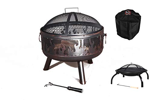 TAOTAO Texas Steel Fire Pit 60CM with Chromed grill with FREE rain cover...