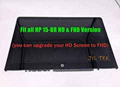 """Size: 15.6""""; Max.Resolution: FHD (1920x1080) ; Display Technology: WLED Backlight; Screen Finish: Glossy; Type: LCD Screen + Touch Digitizer + Bezel Frame Assembly Only (Not a Laptop); Warranty: 120 days Compatible Laptop Model: 925711-001 HP Pavilio..."""