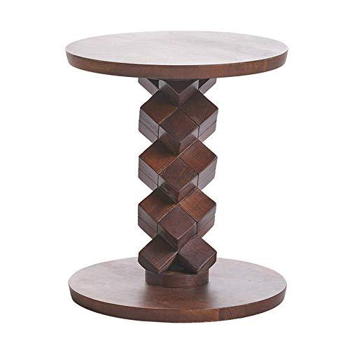 Axdwfd Table basse Canapé en bois massif Table d'appoint Salon Chambre Balcon Table Snack 40 * 45cm (marron)