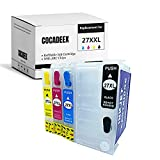 COCADEEX Cartucho de tinta recargable vacío para tinta 27XL 27XXL, funciona con Workforce WF-3620 WF-7620 WF-7610 WF-3640 WF-7110 WF-7210 WF-7710 WF-7710 WF-7715 WF-7720
