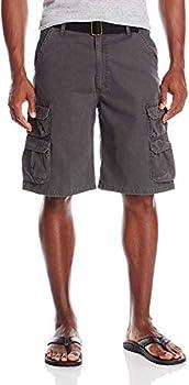 Wrangler Authentics Men's Premium Twill Cargo Short Anthracite Twill 42