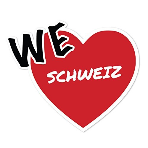 JOllify sticker - Zwitserland - 10cm - Design: We love - Wir liebe