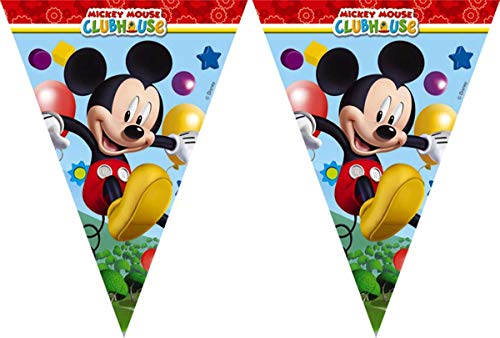 Playful Mickey Mouse Party Flag Pennant Banner - 2.3 metres