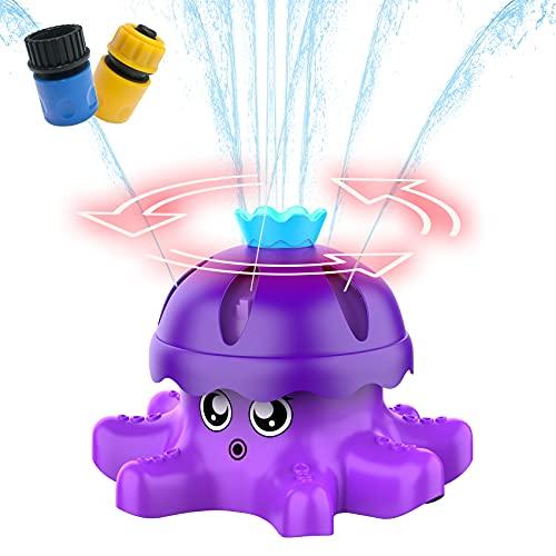 FOSUBOO Giochi D Acqua Giardino per Bambini,d'Acqua Giocattolo di Polpo per Doccia Acqua Giocattolo per Irrigatore per Cortile, Prato, attività All'Aperto