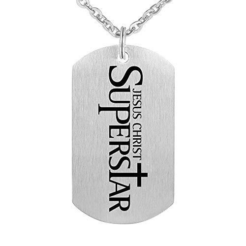 Edelstahl Religiöser Schmuck Jesus Christ Superstar Schlüsselbund Anhänger Halskette 55Cm