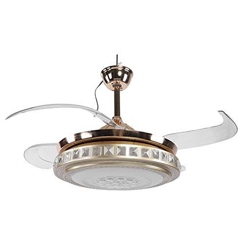 Ladieshow Ventiladores de techo Luces Ventilador de techo LED de 42'con luces cambiantes de 3 colores y control remoto Ventilador de techo de 4 aspas