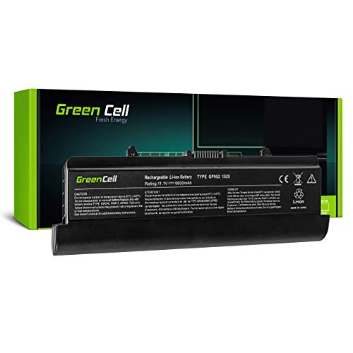 Green Cell Battery for Dell Inspiron 1525 1526 1545 1546 P02F P02F001 PP29L PP41L Vostro 500 Laptop (6600mAh 11.1V Black)