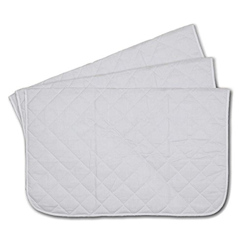 Jacks Mfg Baby Pad Quilted 3pack White 27 inches x 33 inches