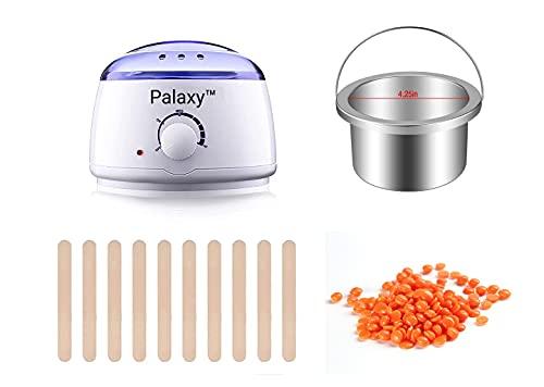 Palaxy Waxing Kit Wax Warmer, Wax Heater Machine, Hard Waxing Kit for Women Men with Wax Beads, Brazilian Wax Hair Removal for Body, Bikini, Legs, Face, Eyebrows, Use at Home