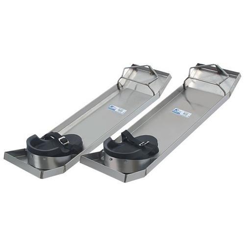 Kraft Tool CC162, 28'x8' Lightweight Stainless Steel Knee Boards, Pack of 1 Pair