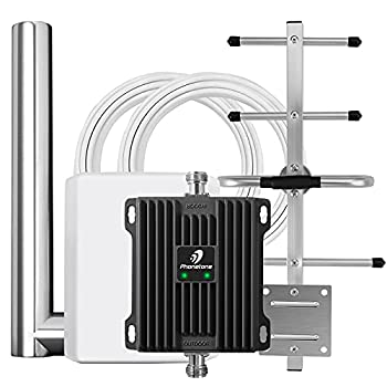 Cell Phone Signal Booster for Home Office with Antenna Pole Mount - Boost LTE Data for Verizon and AT&T | Band 12/17/13 Cellular Repeater | Up to 5,000 Sq Ft Area