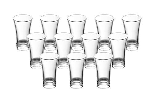 2-Ounce 2-Oz Heavy Base Shot Glass Set, Whiskey Shot Glass espresso liquor 12-Pack Gmark GM2026