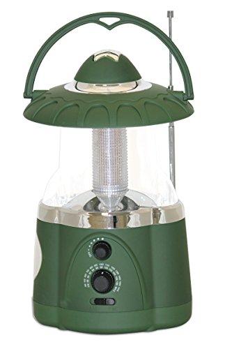 Multifunctional Radio Lantern and Emergency Flashlight, Battery Operated, 12 Bright Lantern LED's and 4 Bright Flashlight LED's, Hurricane Lantern by Northpoint