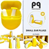 PQ Small Ear Plugs for Sleep - 20 Earplugs for Sleeping on Your Side, with Holding Case! Noise...