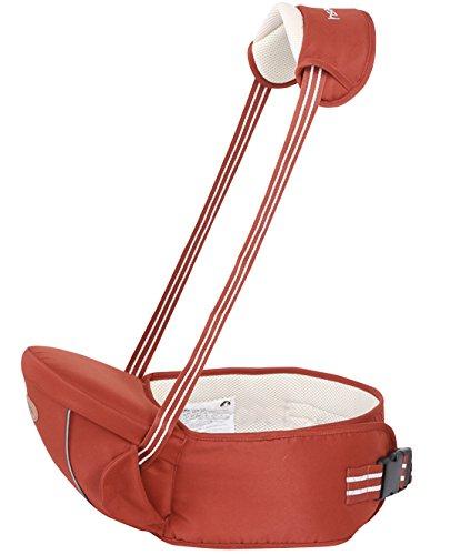 Gabesy - Portabebé ventral multiposiciones, ligero y transpirable con asiento y tirantes ajustables. Muy cómodo para los bebés de 4a 36meses naranja naranja Talla:4-36 mois