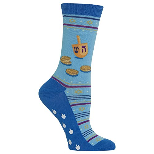 Hot Sox Women's Dreidel and Gelt Non Skid Socks
