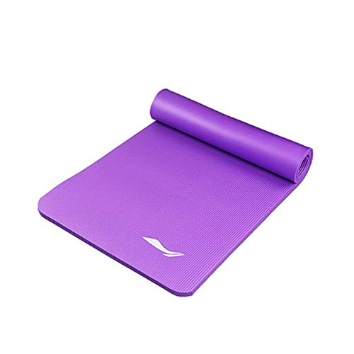 FLY FLU Colchoneta De Yoga Esterilla, Principiante Fitness Dance Mat Home Ladies Slip Thickening Widened Long 8MM Sports Sleeping Mat Colchonetas De Yoga para El Hogar,Purple-15mm