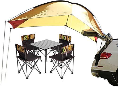 Sport Tent-Wasserdichtes Vorzelt Vordach Tragbares Auto SUV Heckzelt Klappzelt Anhänger Markise für Camping 4 Personen (Weiß/grün)