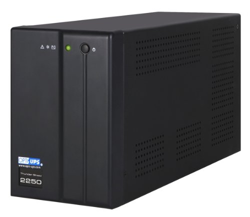 OPTI-UPS TS2250B 2000VA 1200W Line Interactive UPS Battery Backup with AVR Surge Protection - 5 Outlets (Black) - Uninterruptible Power Supply
