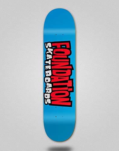Foundation Skateboard Skateboard Deck Board aus den 90er Jahren Blau 8.25
