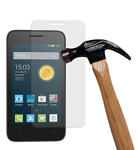 yayago Bildschirmschutzglas 0,26 mm Bildschirmschutzfolie für Alcatel One Touch Pixi 3 4 Zoll Glasfolie Hartglas 9H (bewusst Kleiner als Das Bildschirm, da Dieses gewölbt ist)