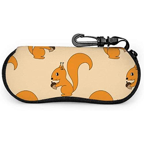 WCHAO SeamlessWith ein Eichhörnchen-Kasten für Sonnenbrille-Sonnenbrille-Beutel für hellen beweglichen Reißverschluss-weichen Kasten-Glas-Kasten