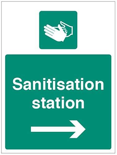 Desinfektions-Station (Pfeil rechts)