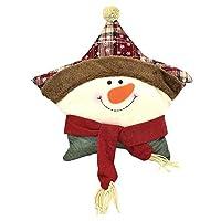 Alta qualità e stile. È adatto per la casa di Natale, hotel, vacanze, feste, apertura di decorazioni natalizie. Design unico a cinque punte a forma di cartone animato. È realizzato in tessuto scozzese rosso scuro, resistente allo sporco, facile da pu...