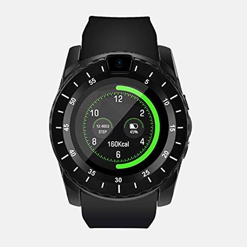 Slimme horloge, Plugggable Telefoonkaart en Geheugenkaart, Slaap Monitoring Calorie Stappenteller Outdoor Sport Waterdichte Bluetooth Android/ios, Zwart