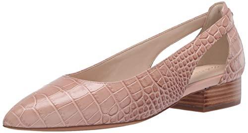 Cole Haan Women's Marcey Skimmer Ballet Flat, Mahogany Rose Embossed Crocodile Print Leather, 8 B US