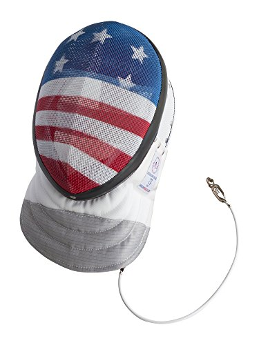 Fencing Foil Mask CE350N Certified National Grade Including Head Wire (Mask Cord) By American Fencing Gear Medium