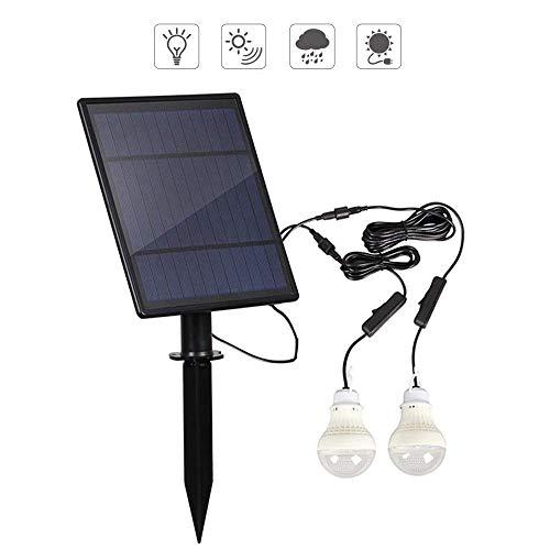 Z-SEAT Ampoule LED à lumière Solaire, éclairage Solaire Portable 200LM, éclairage de la Lampe à énergie Solaire pour la pêche à la Maison en Camping d'urgence (Pack de 2)