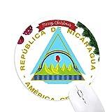 nicaragua emblème national tapis de souris en caoutchouc de sapin de noël