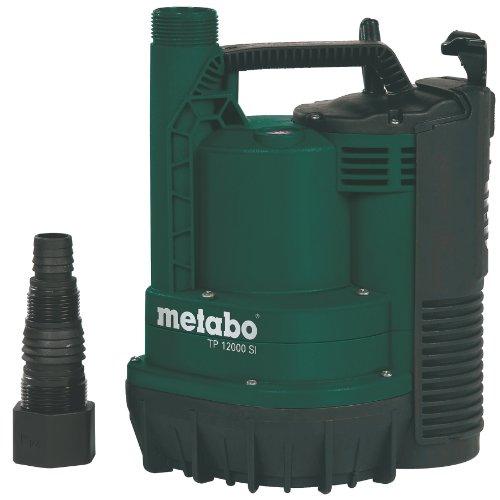 Metabo Tauchpumpe TP 12000 SI (Klarwasser; Leistung: 600 W, Fördermenge: 11700 l/h, Förderhöhe :9 m; Eintauchtiefe: 7 m) 0251200009