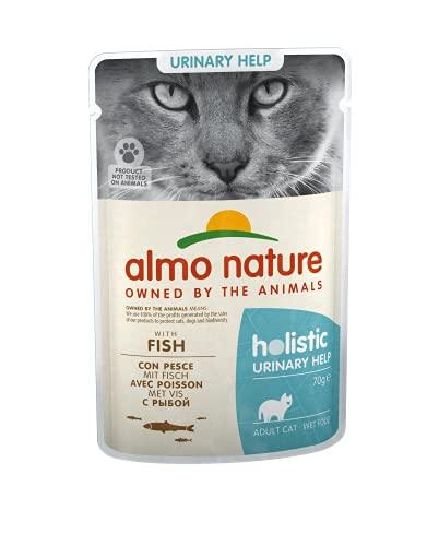 almo nature Holistic Urinary Help - Cibo Umido Completo per Gatti Adulti con Pesce. 30 Bustine da 70 G. - 2500 g