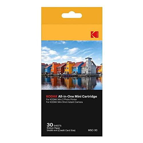 Kodak - Cartouche MC d'Impression Photo Mini, Tout-En-Un (Encre et Papier), Lot de 30, Compatible avec Appareil Photo Mini Shot, Imprimante Mini 2