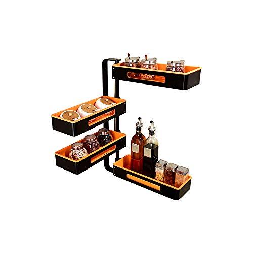 SLMY 4-Tier Spice Rack, plank bad douchebak douche Baske-voor het opslaan van blikjes, flessen en potten ideale keuken opslag oplossing