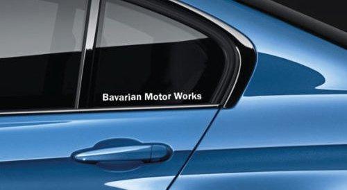SUPERSTICKI Bavarian Motor Works Decal Sticker M1 M2 M3 M4 M5 MX5 MZ4 X3 X5 BMW Pair aus Hochleistungsfolie Aufkleber Autoaufkleber Tuningaufkleber von aus Hochleistungsfolie für alle glatten FL