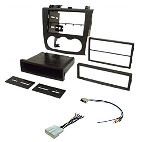 Premium Model ASC Audio Car Stereo Install Dash Kit, Wire Harness, and Antenna Adapter for Installing an Aftermarket Radio for 2007 2008 2009 2010 2011 2012 Nissan Altima w/Manual Climate Control Knob